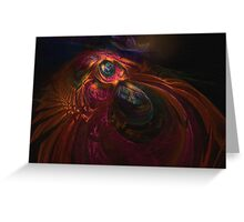 """False Color Fossil"" Greeting Card"