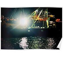 NIGHT LIGHTS AT SEA Poster