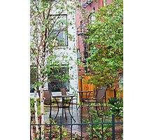 Rainy Day Café Photographic Print