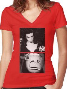 Vampira Tee Women's Fitted V-Neck T-Shirt