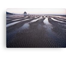 Low Tide at Canon Beach, Oregon Canvas Print