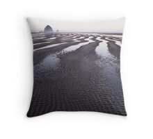 Low Tide at Canon Beach, Oregon Throw Pillow