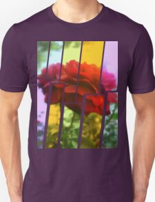 Red Rose with Light 1 Tinted 2 Unisex T-Shirt