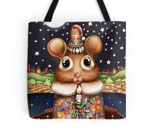 Little Bright Eyes the Radiant Christmas Mouse Tote Bag