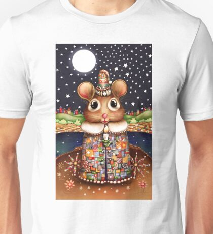 Little Bright Eyes the Radiant Christmas Mouse Unisex T-Shirt