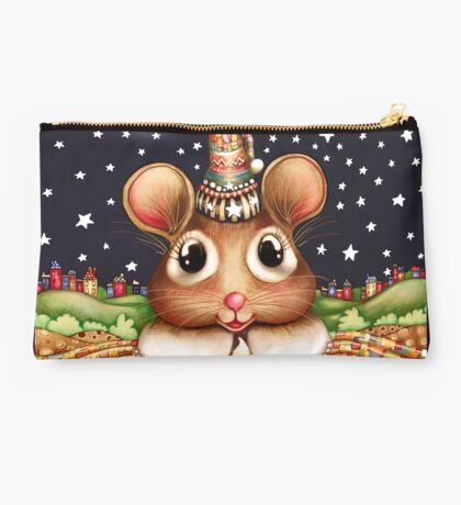 Little Bright Eyes the Radiant Christmas Mouse Studio Pouch