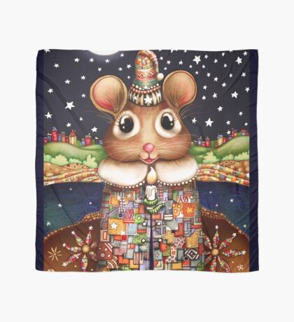 Little Bright Eyes the Radiant Christmas Mouse Scarf