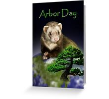 Arbor Day Ferret Greeting Card