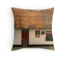 Thatched Cottage in Castlebellingham Throw Pillow