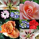 Floral Collage with Roses and Lilies by BlueMoonRose