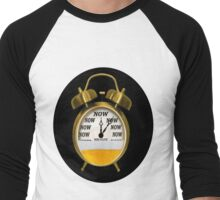 ☝ ☞ ITS NOW -TIME FOR A BEER- WITH- BEER OCLOCK TEE SHIRT ☝ ☞  Men's Baseball ¾ T-Shirt
