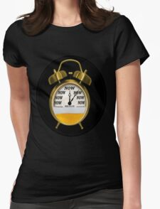 ☝ ☞ ITS NOW -TIME FOR A BEER- WITH- BEER OCLOCK TEE SHIRT ☝ ☞  Womens Fitted T-Shirt