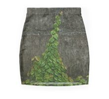 green leaves on the wall Mini Skirt