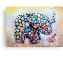 Little Sunshine the Patchwork Elephant Metal Print