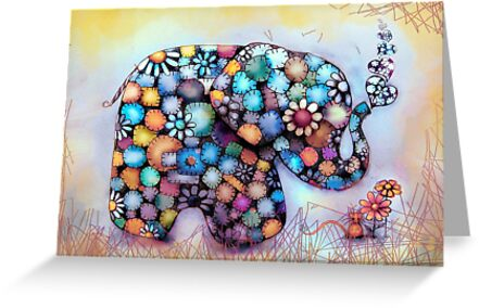 Little Sunshine the Patchwork Elephant by © Karin Taylor