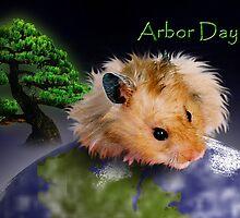 Arbor Day Hamster by jkartlife