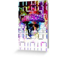 digital mushroom Greeting Card