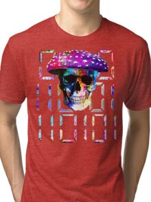 digital mushroom Tri-blend T-Shirt