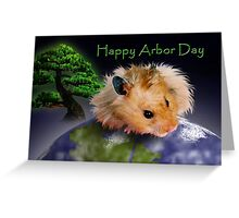Happy Arbor Day Hamster Greeting Card