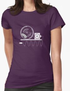 Hamster apple iPhone charger Womens Fitted T-Shirt