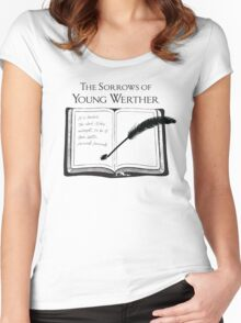The Sorrows of Young Werther by Goethe Women's Fitted Scoop T-Shirt