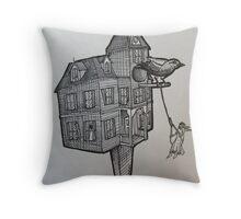 Grackles summer home Throw Pillow