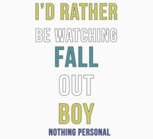 i'd rather be watching fall out boy/ white by ohgenny