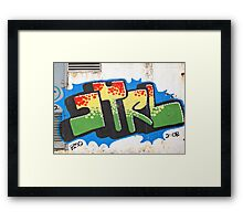 Shatin Graffiti  Framed Print