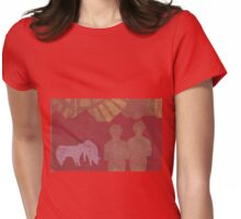 Turbine Mountains Womens Fitted T-Shirt