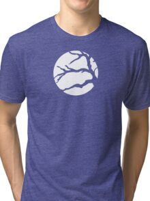 Abstact Tree Vector in white Tri-blend T-Shirt