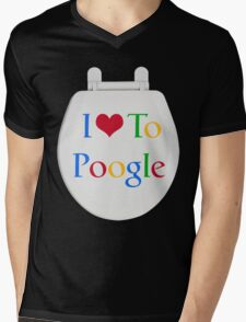 I Love To Poogle Mens V-Neck T-Shirt