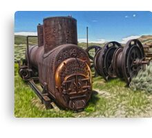 Bodie Ghost Town - Mining Equipment Canvas Print