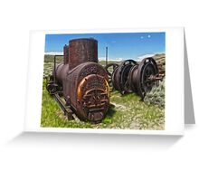 Bodie Ghost Town - Mining Equipment Greeting Card