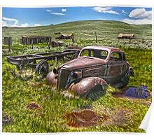 Bodie Ghost Town, Old Car Poster