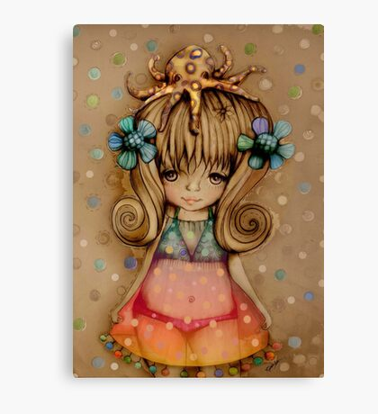 The Girl and the Octopus Canvas Print