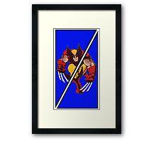 Wolverine Sliced (Geometric) Framed Print