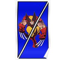 Wolverine Sliced (Geometric) Poster