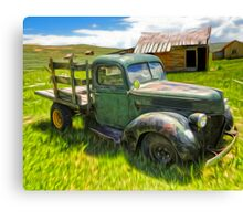 Bodie Ghost Town, Old Truck Canvas Print