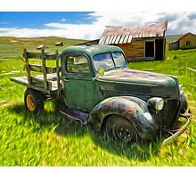 Bodie Ghost Town, Old Truck Photographic Print