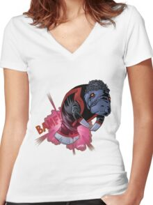 Nightcrawler Manatee SALE! Women's Fitted V-Neck T-Shirt