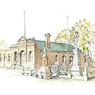 Town Hall & Cenotaph Ross by Muriel Sluce by Wendy Dyer