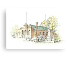 Town Hall & Cenotaph Ross by Muriel Sluce Canvas Print