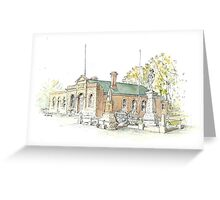 Town Hall & Cenotaph Ross by Muriel Sluce Greeting Card
