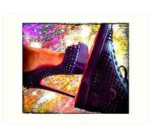 His and Hers Red Bottom Heels and Sneakers 2 Art Print