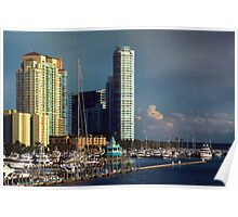 Miami Beach Before Sunset  Poster