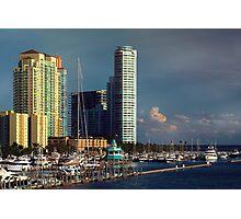 Miami Beach Before Sunset  Photographic Print