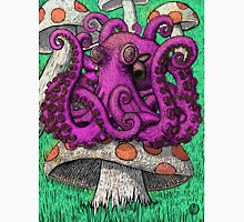 Octopus on Mushrooms Unisex T-Shirt