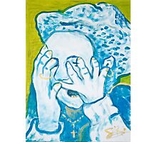 The crying Russian Woman in oil!  Photographic Print
