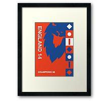England 2014, World Cup QFD #2 Framed Print