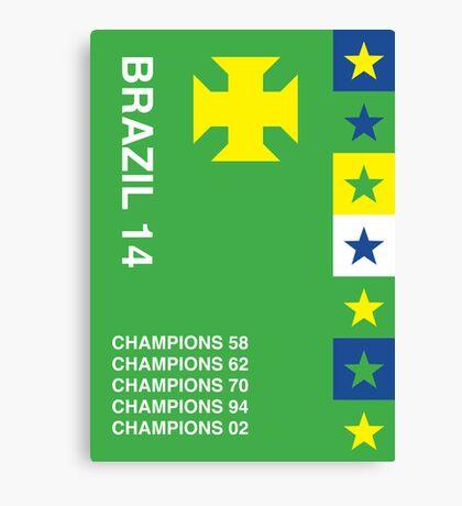 Brazil 2014, World Cup QFD #1 Canvas Print